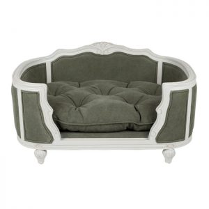 ARTHUR UPHOLSTERED BED – STONEWASHED ARMY GREEN