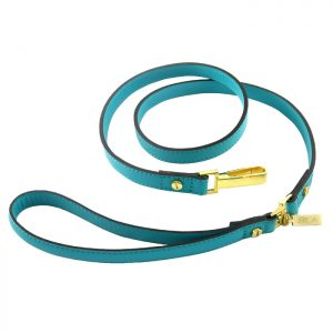 luxury designer Frida Firenze dog lead turquoise