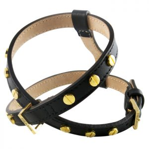 luxury designer Frida Firenze dog harness black
