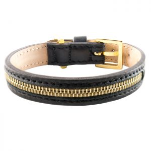 luxury designer Frida Firenze dog collar black