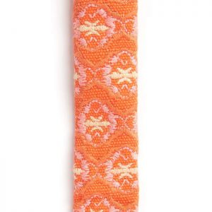 luxury, designer Boho Chien orange dog collar