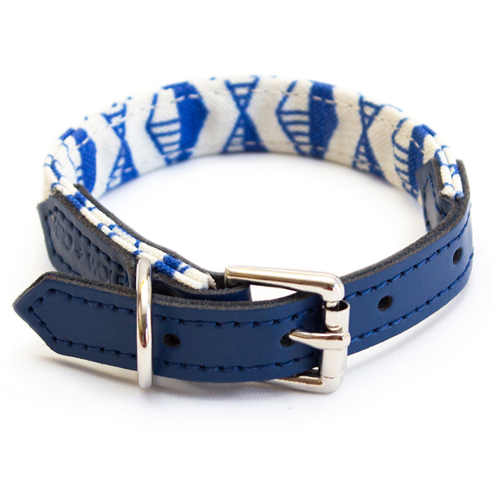 GEO COLLAR - BLUE Swish London