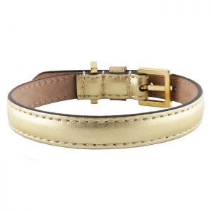 luxury designer Frida Firenze dog collar gold