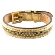 luxury designer Frida Firenze dog collar gold