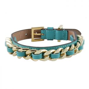 luxury designer Frida Firenze dog collar turquoise