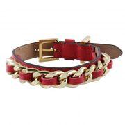 luxury designer Frida Firenze dog collar red