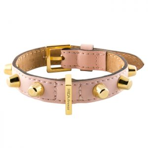 luxury designer Frida Firenze dog collar pink