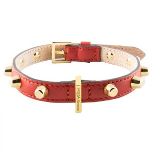 luxury designer Frida Firenze dog collar red