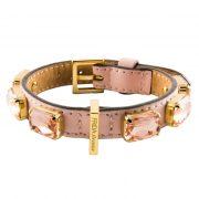 luxury designer Frida Firenze dog collar pink