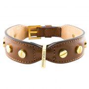 luxury designer Frida Firenze dog collar brown