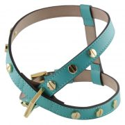 luxury designer Frida Firenze dog harness turquoise