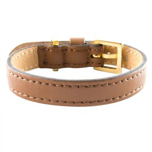 luxury designer Frida Firenze dog collar brown