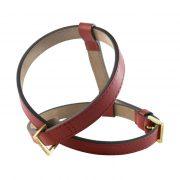 luxury designer Frida Firenze dog harness red