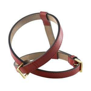 luxury designer Frida Firenze dog harness red