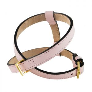 luxury designer Frida Firenze dog harness pink