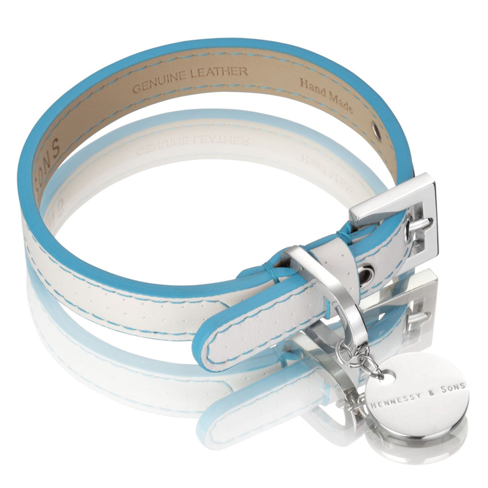 POLO CLUB COLLAR - WHITE/BLUE Swish London