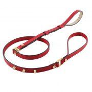 luxury designer Frida Firenze dog lead red