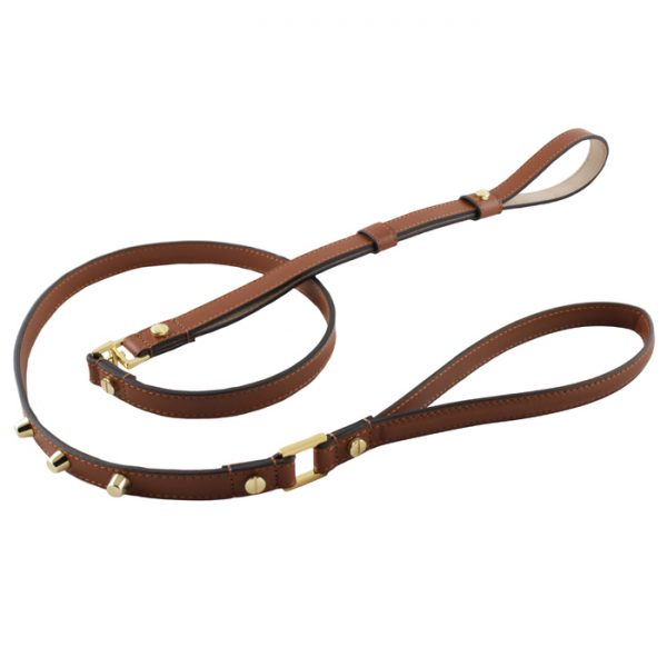 luxury designer Frida Firenze dog lead brown