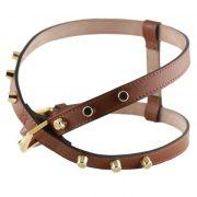 luxury designer Frida Firenze dog harness brown