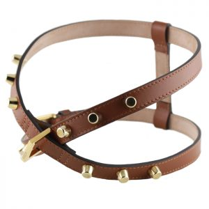 luxury designer Frida Firenze dog harness brown