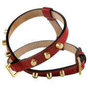 luxury designer Frida Firenze dog harness ruby red