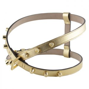 luxury designer Frida Firenze dog harness gold
