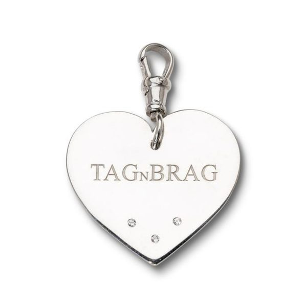 Brag n Tag Luxury Silver dog tag