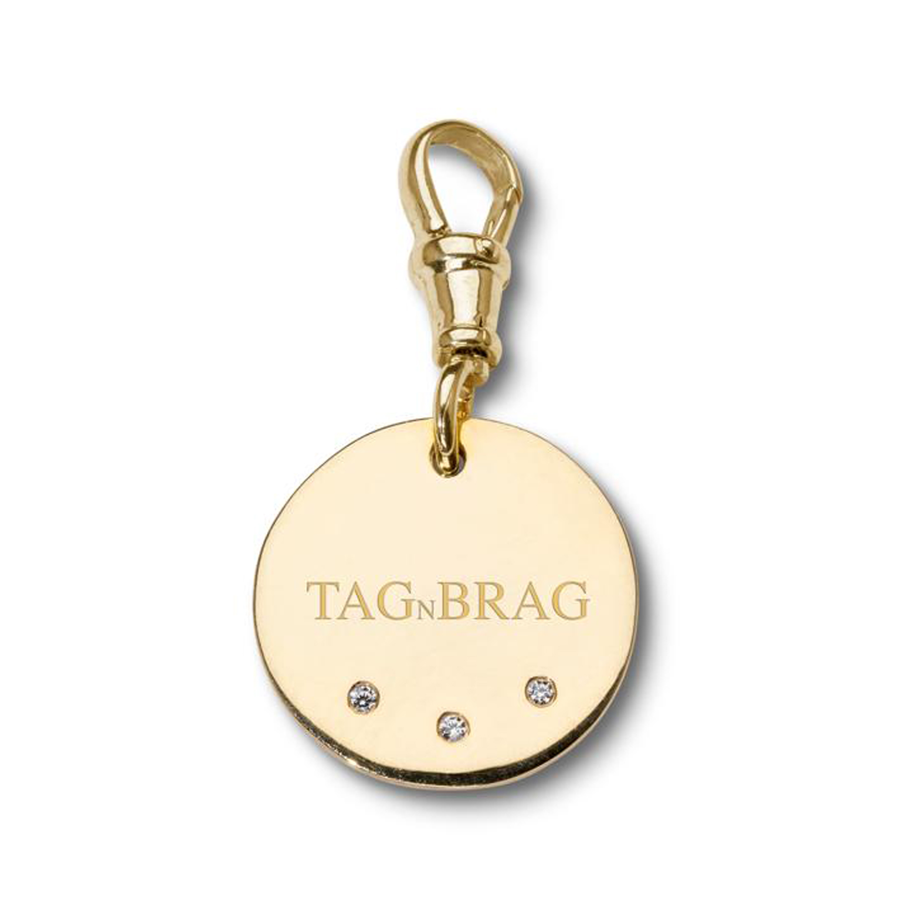 Brag n Tag Luxury Gold dog tag