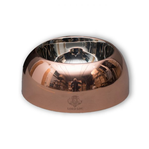 CAPRI DOG BOWL – STAINLESS STEEL/ BRASS