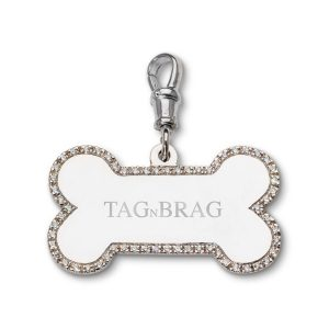 Brag n Tag Luxury Sterling Silver dog tag