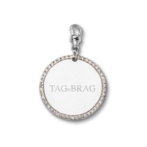Brag n Tag Luxury White Gold dog tag