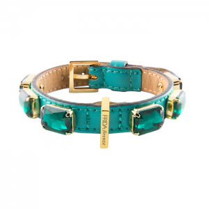 JEWELLED COLLAR - EMERALD GREEN Swish London