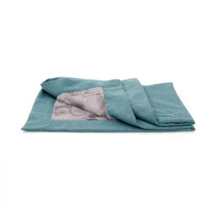 SMALL CLASSIC BLANKET - AQUA Swish London